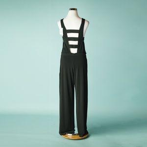 e84bf118ec5 Zara Pants - Zara M Black Strappy Wide Leg Romper Jumpsuit NWT